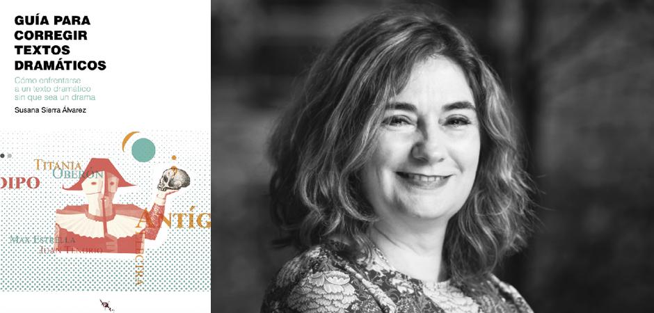 Cubierta de libro y retrato de Susana Sierra